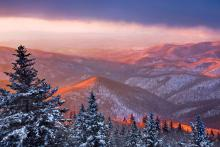 """""""Cold Mountain Sunrise"""" © Scott Hotaling.  Used by permission."""