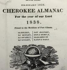 Cherokee Almanac 1838 Cover