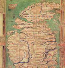 Map of Britain by Mathew Paris, 13th century