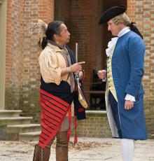 Bullet Standingdeer as Cherokee Emissary at Colonial Williamsburg